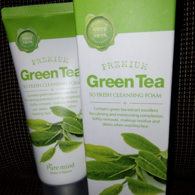 Puremind green tea facial cleanser