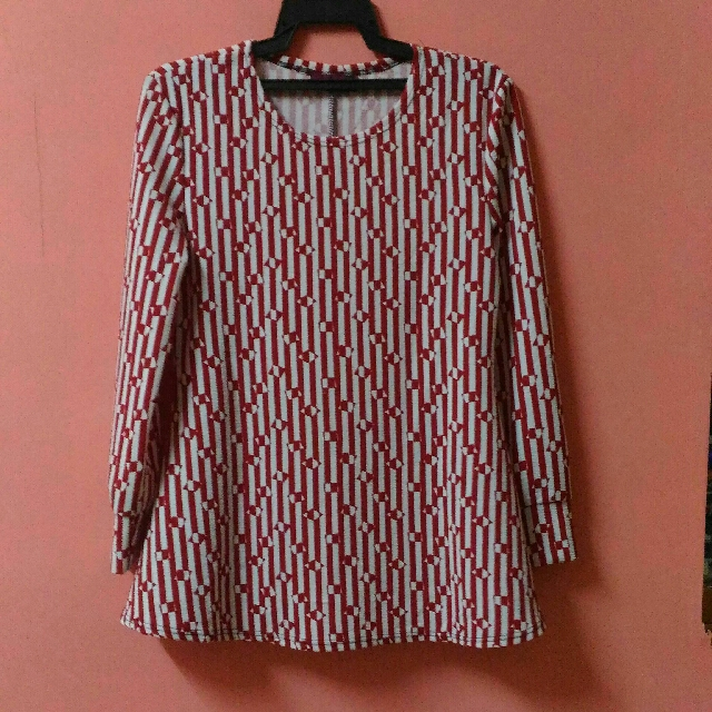 red stripe blouse