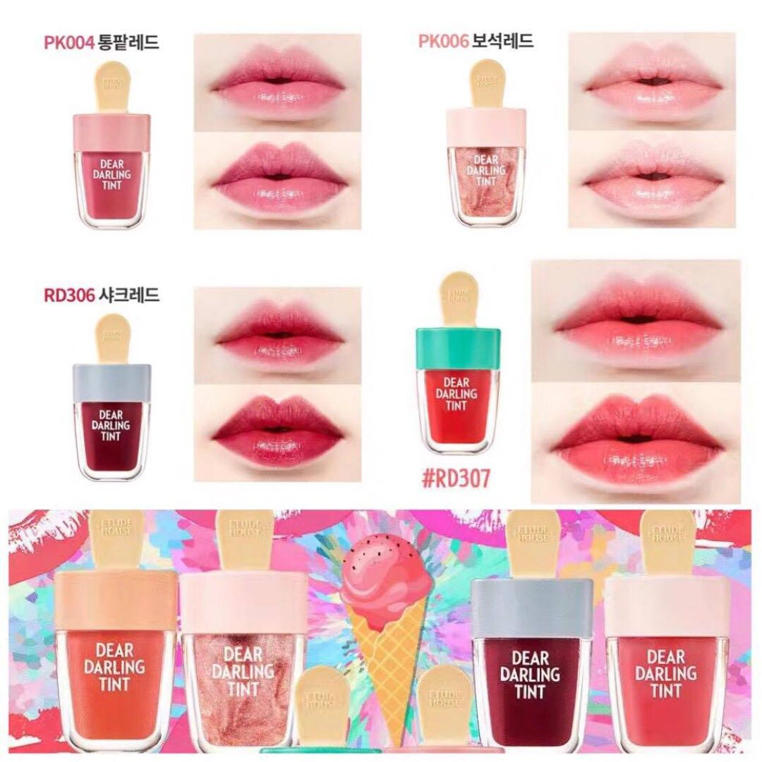 RM10 Etude House Dear Darling lip Tint, Health & Beauty, Makeup on ...