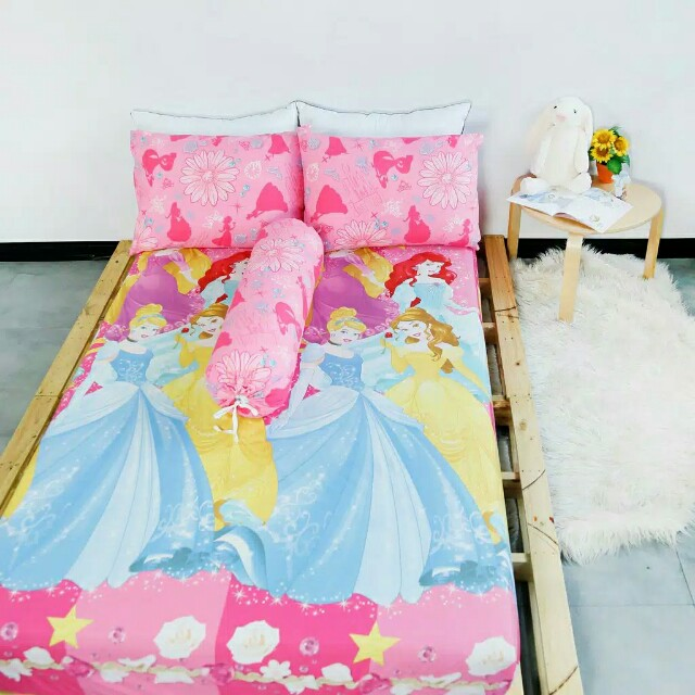 Sprei princess gratis bantal guling pillow people paket hemat