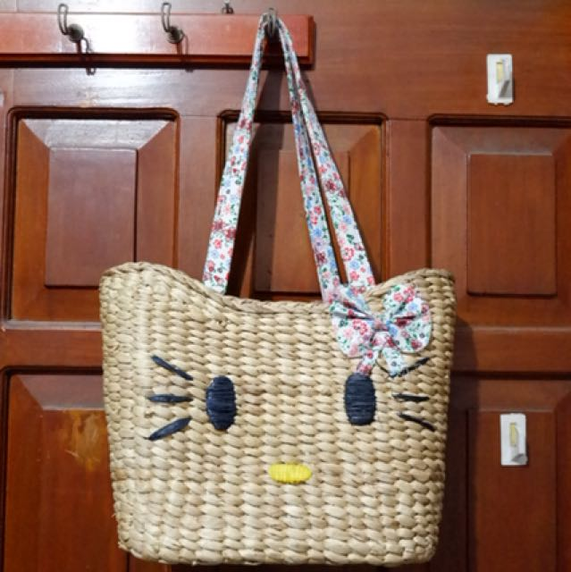 Tas rotan hello kitty
