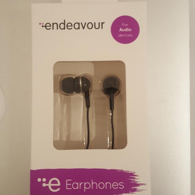 Unopened earphones