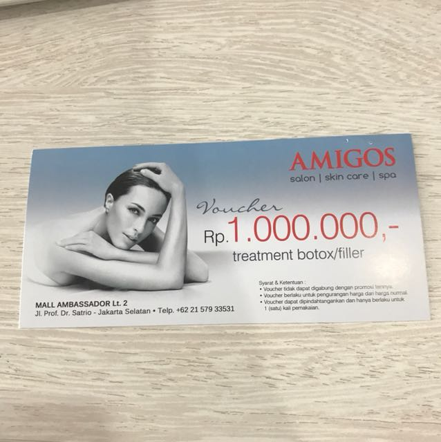 Voucher treatment botox 1.000.000