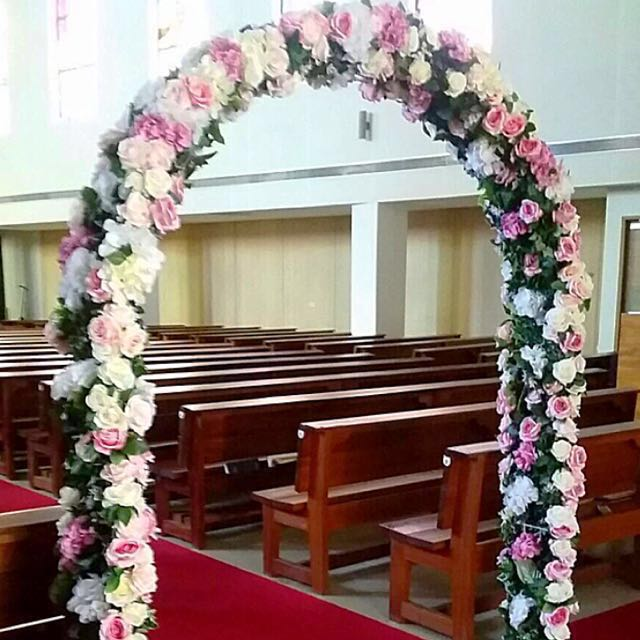 Wedding Arch For Rent Artificial Flowers Gardening On Carousell