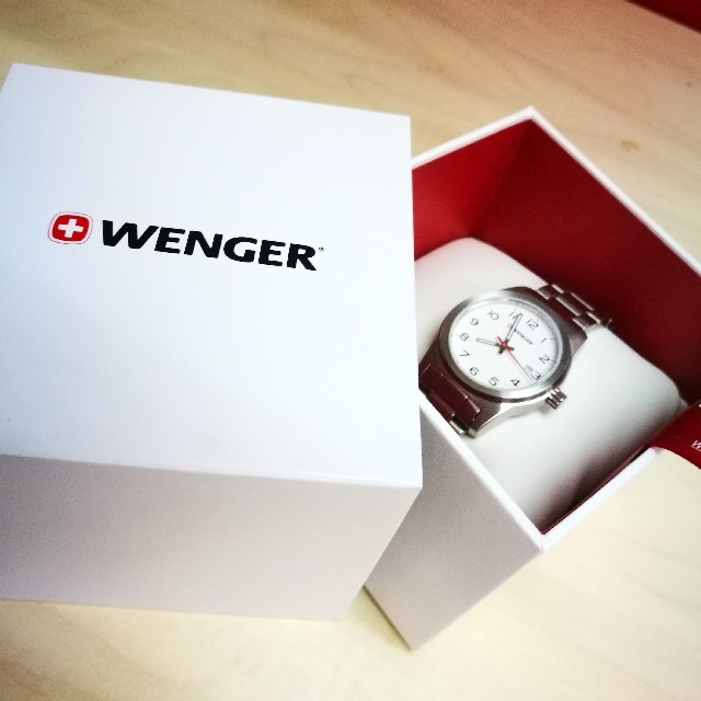 Wenger Womens Filed White Dial Stainless Steel Strap