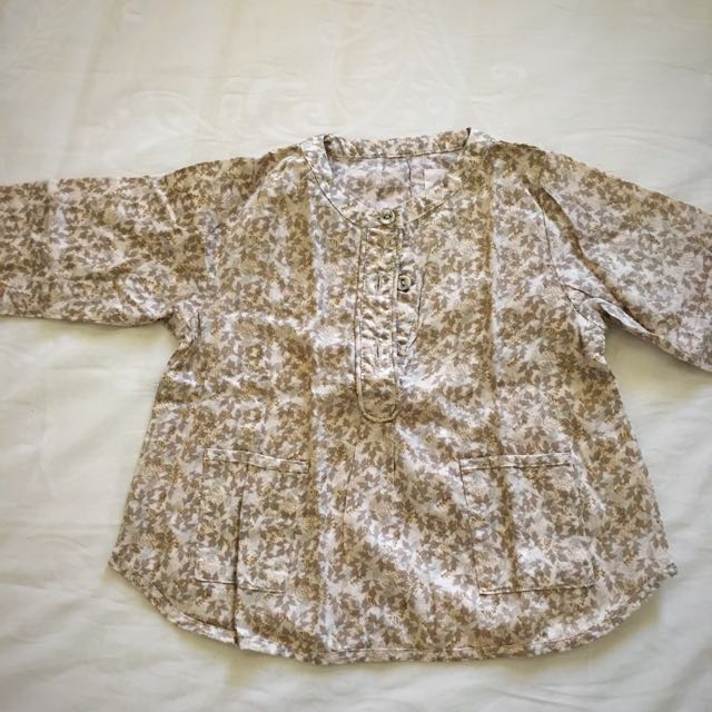 WHEAT baby blouse