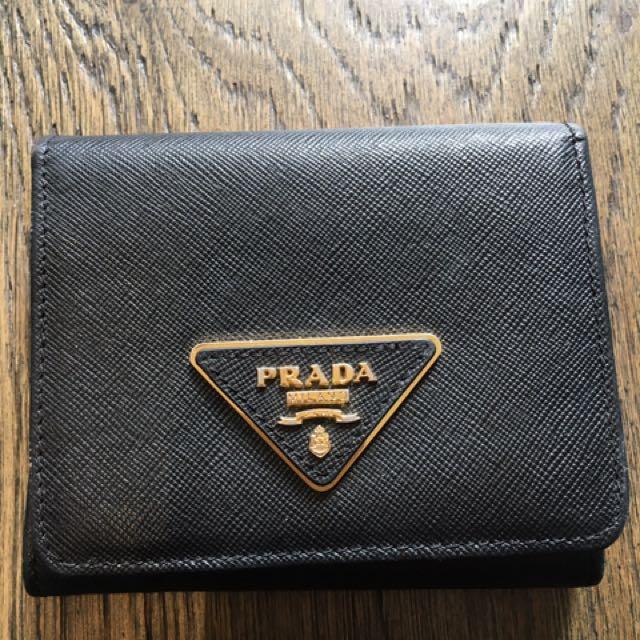 Women's authentic Prada wallet