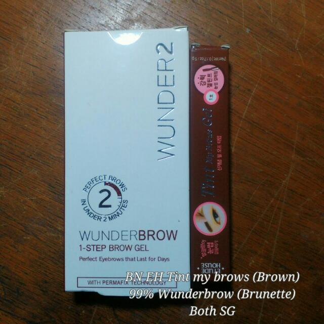Wunderbrow And Etude House Tint My Brows