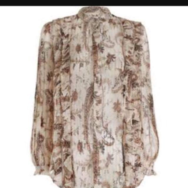 Zimmermann Mischief Frill blouse top