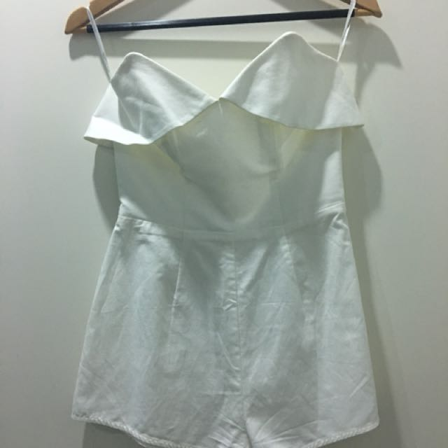Zimmermann strapless cream playsuit