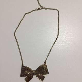 Forever 21 Ribbon Necklace