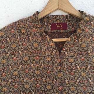 日本製🇯🇵秋意小碎花花瓣領長袖襯衫❤️任選兩件減100✨古著復古vintage森林系