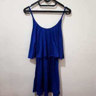 Playsuit dress biru