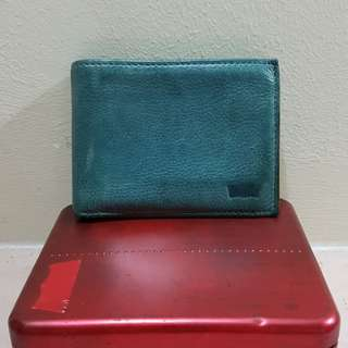 Levi's Leather Wallet Navy
