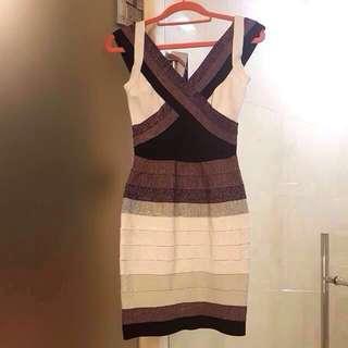 Herve Leger Inspired Ombre Bandaged Dress