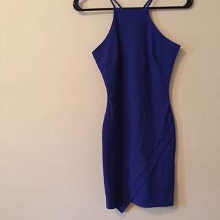 Royal blue dress XS
