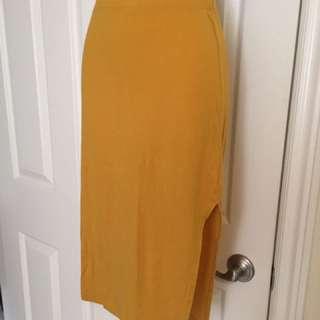 FOREVER21 Side-Slit Pencil Skirt