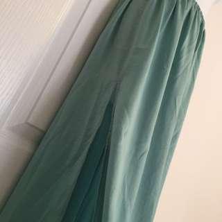 ZARA Chiffon Double-Slit High-Waisted Skirt