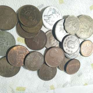 Old currencies from different countries