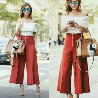 *Out of Stock*  ELEGANT OFF SHOULDER TOP & HIGH WAISTED WIDE LEG PANTS  Php390 only!    📍Pre-order (Cut OFF of Orders & Payments every Wednesday; Shipping every Friday And Saturday)
