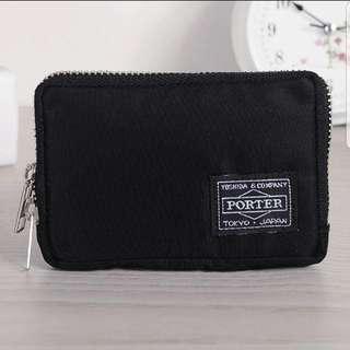 吉田包PORTER多色多功能雙夾層零錢包 信用卡夾層 防水尼龍材質 鑰匙包 方便攜帶