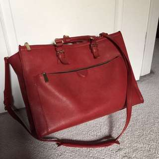 red zara schoolbag