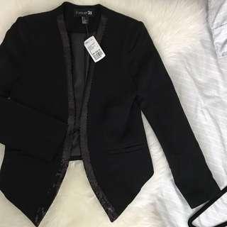 Black blazer with sequin detail