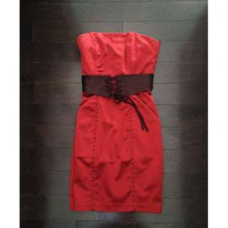 Bebe Ruby Red Dress