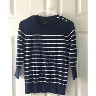 Banana Republic Striped Crew Neck Sweater