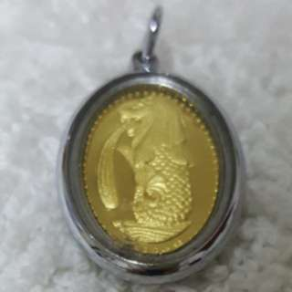 GOLD MERLION/LUCKY PENDANT