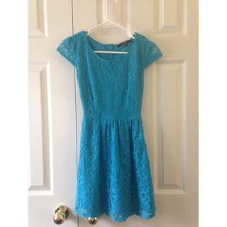 F21 Blue Lace Dress