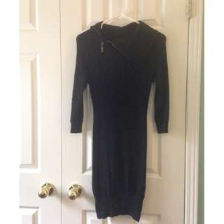 Bebe Black Sweater Dress