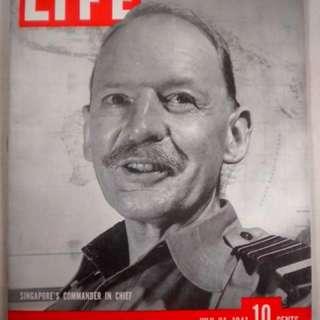 🚚 Life Magazine July 1941 Singapore British Commander