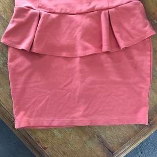Orange Cotton On Skirt