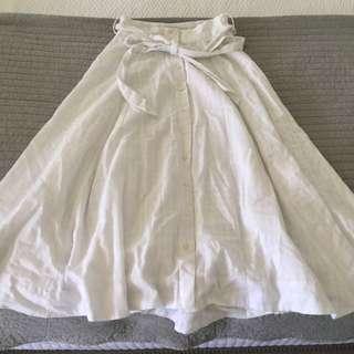 SEED HERITAGE White Midi Skirt