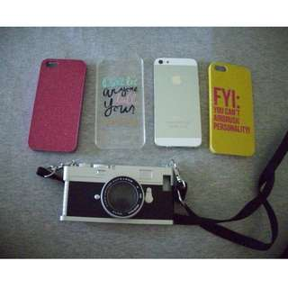 IPhone 5 with 4 cases