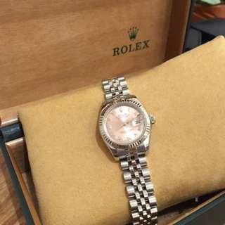 Pre Loved Rolex Rose Gold Face w/ WhiteGold Bezel