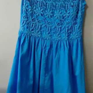 Glassons blue lace dress-8