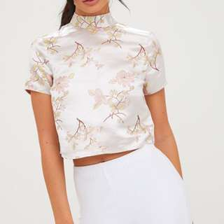 BNWT Pretty Little Thing Oriental Blouse