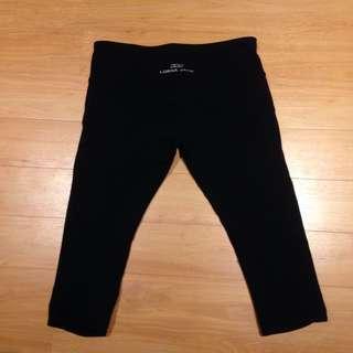 Lorna Jane 3/4 Leggings - Black, Size 8