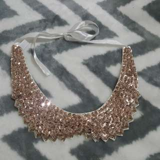 Sequined collar necklace