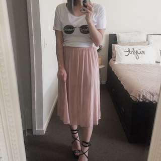 Pink glassons skirt