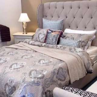 Queen Size Fabric Bed With 4 Storage Drawers MADE IN MELBOURNE!
