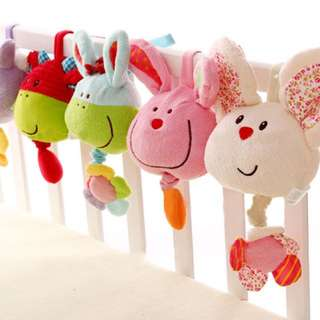 Baby Cot Pulling Musical Soft Toy