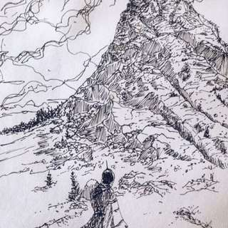Mountain Seeker Postcard Sketch