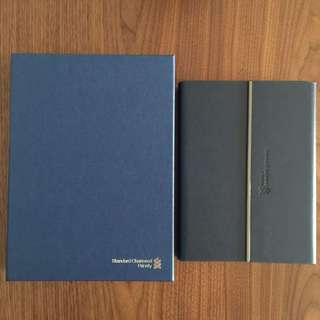 Standard charted priority banking leather notebook with pen. Self collect punggol drive.