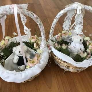 Wedding flower baskets (rental)