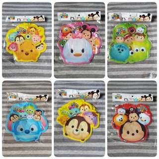 [6 designs!] Disney Japan Tsum Tsum - Cartoon character lanyard coin card holder with string / Party supplies