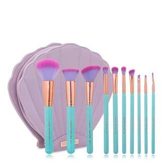 Pre Order Glam Clam 10 Pcs Mermaid Brush Set