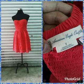 American Eagle Outfitters red cotton dress